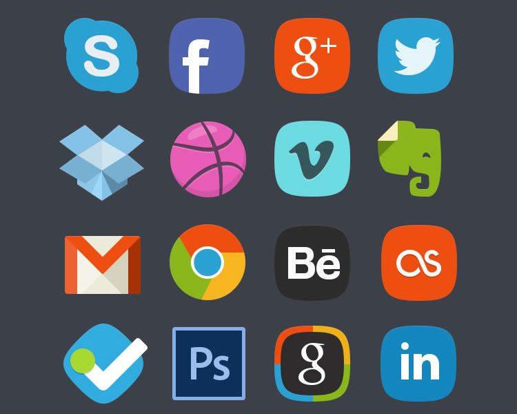 The Social Media Badges Icon Set