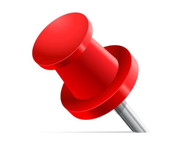 Create a Vector Illustration of Red Pin in Adobe Illustrator CS5