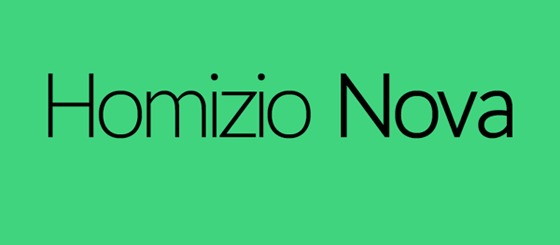 Free Download : Homizio Nova Font (free for personal and commercial use)