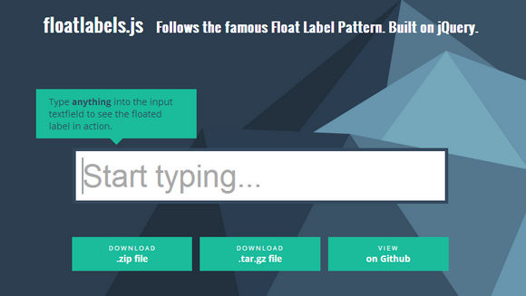 The Float Labels jQuery Plugin