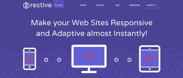 Easy Responsive Web Design with the Restive jQuery Plugin