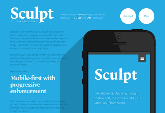 Sculpt – A Mobile First and Responsive Framework