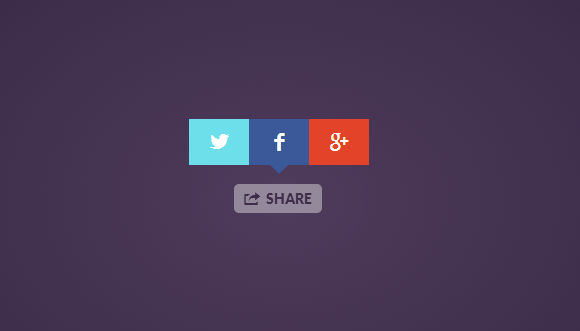 Simple, light, flexible, and good-looking share button jquery plugin