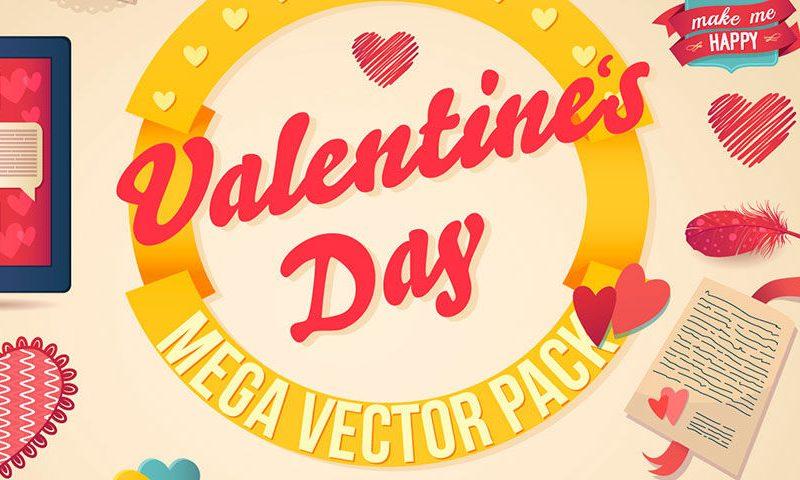 Valentine's vector pack