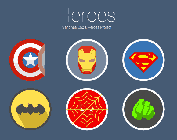 A Javascript library that allows you to create a Sticker Effect