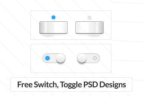 90 Free Switch, Toggle Button PSD Designs