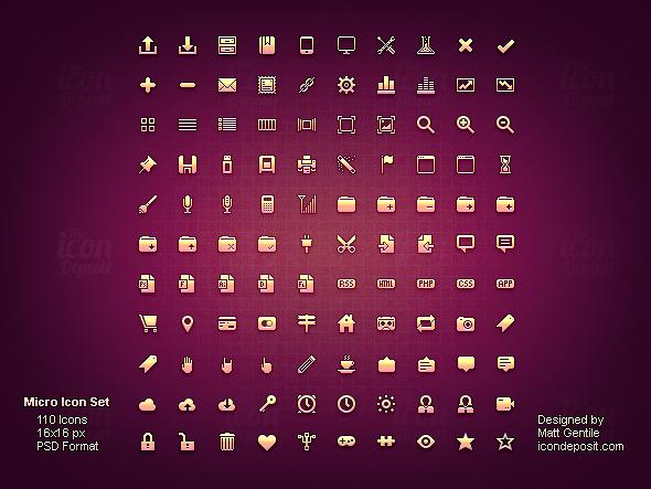 20 Free, Minimalist and Clean Icon Sets