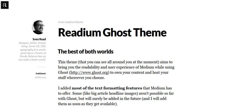 20 Free Ghost Themes with Minimalist Designs