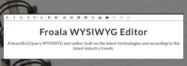 Froala WYSIWYG Editor