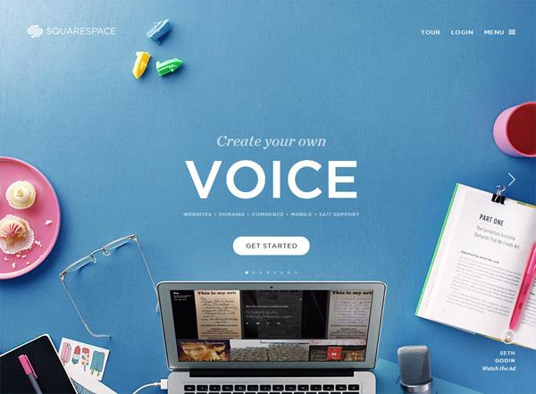 20 Examples of Blue Websites for Design Inspiration