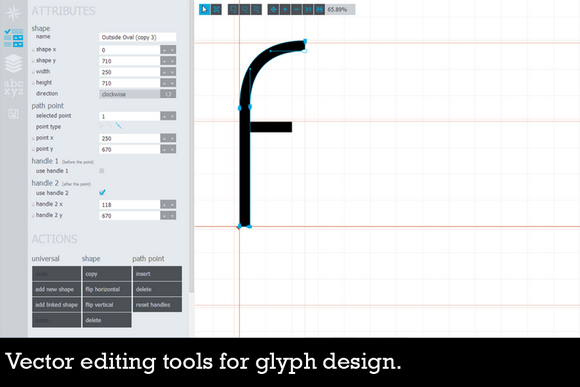 Glyphr is a free, html5 based font editor