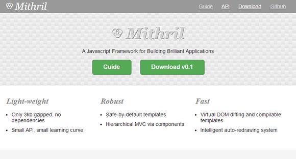 Javascript Framework for Building Brilliant Applications