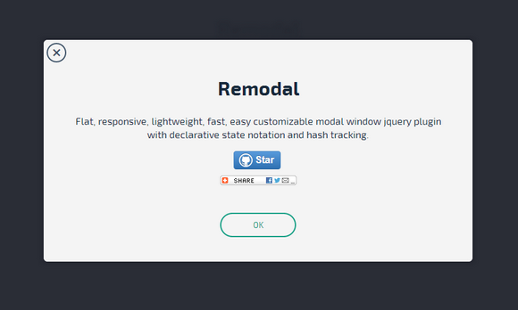 Responsive Modal Windows – Remodal