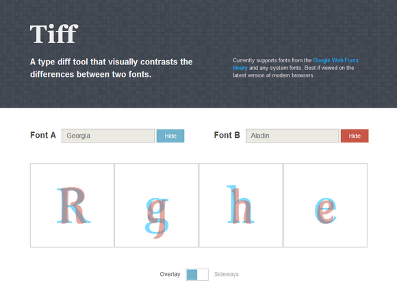 A Visual Typeface Diff Tool