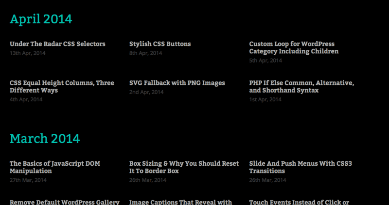 Create A WordPress Custom Archive Page
