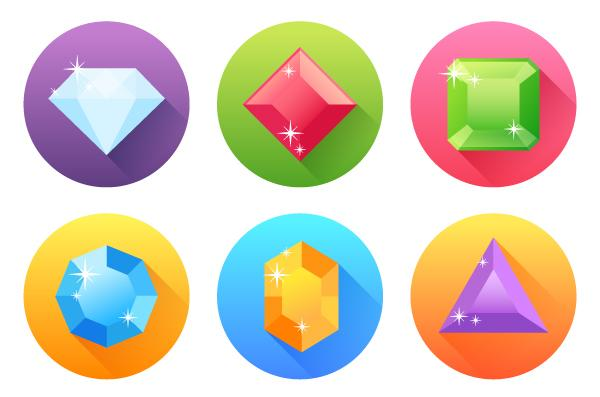 Create a Set of Flat Precious Gems Icons in Adobe Illustrator