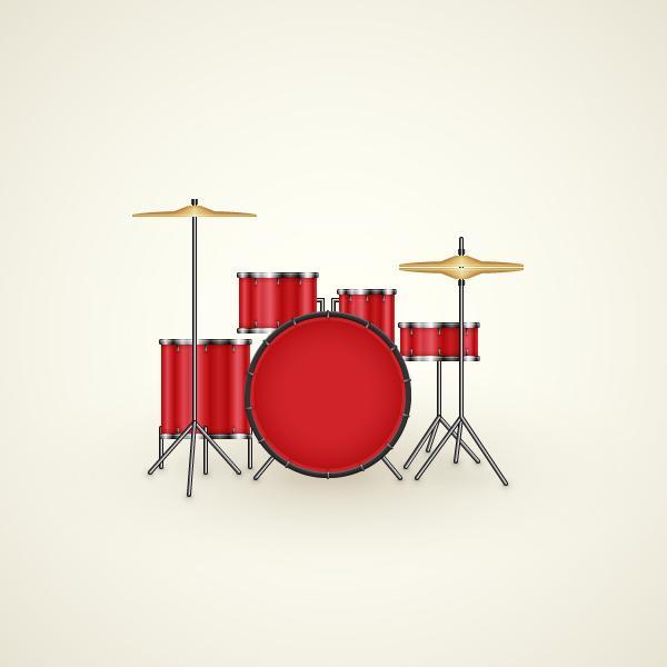 Create a Drum Kit Illustration in Adobe Illustrator