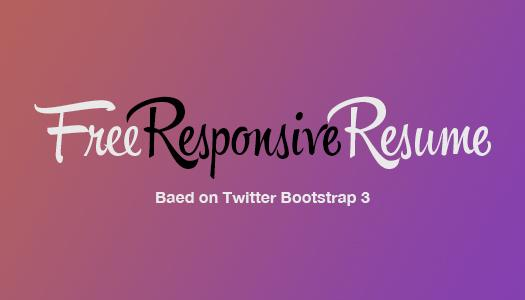 Free Responsive Resume Template Built Using Twitter Bootstrap 3