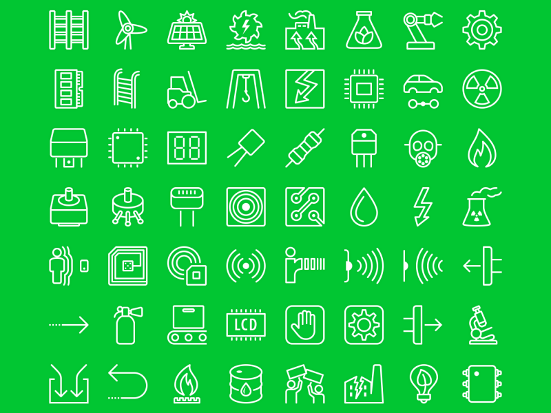 iOS7-Style Industrial Icons (66 Icons, PSD, EPS, PNG and SVG)