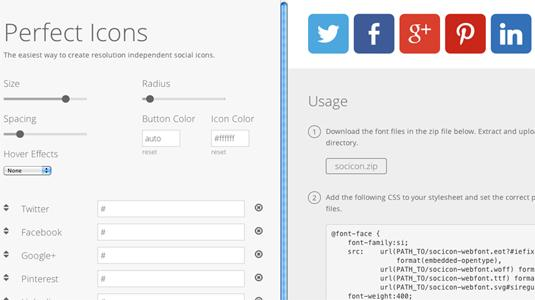 Perfect Icons, create custom social media icons for your website