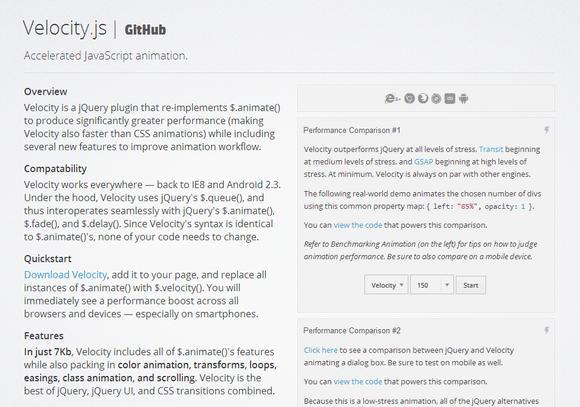 Velocity.js Accelerated JavaScript animation