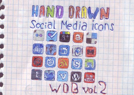 17 Free Awesome Hand-Drawn Icon Sets
