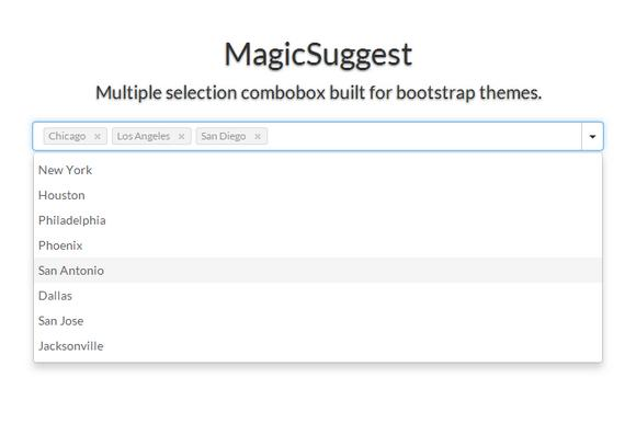 MagicSuggest: Multiple Selection ComboBox for Bootstrap Themes