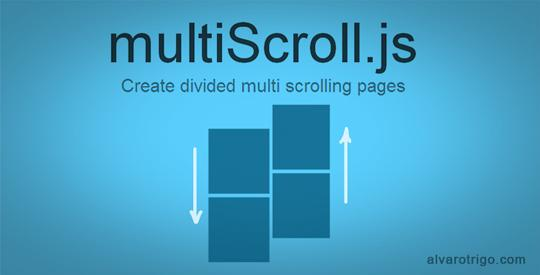 multiScroll.js: jQuery plugin to create multi-scrolling sites with two vertical layouts