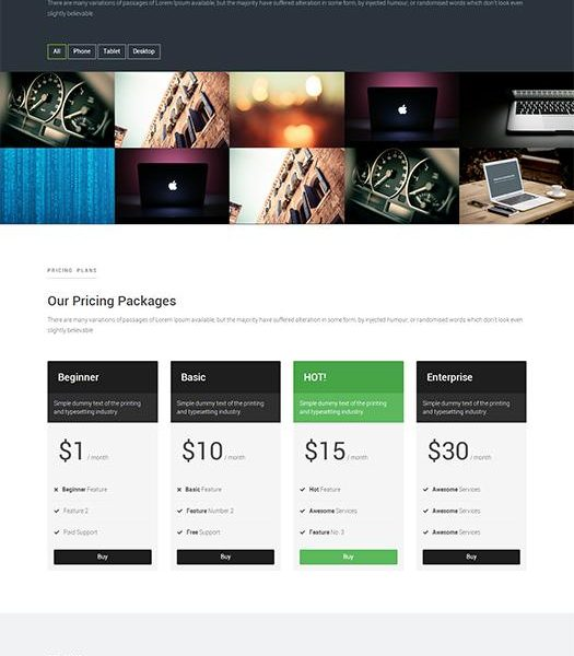One Page Free HTML CSS Website Template (Bootstrap 3) – Meilleur