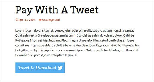 How to Add Pay With a Tweet Button for File Downloads in WordPress