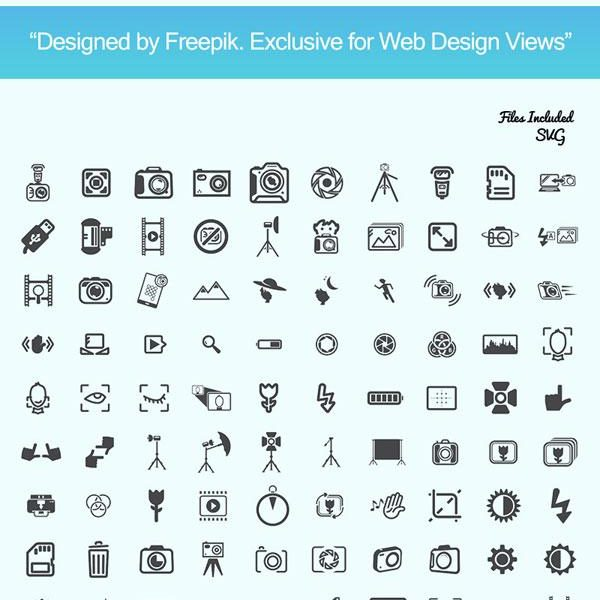 Freebie: 150 Photography Icons