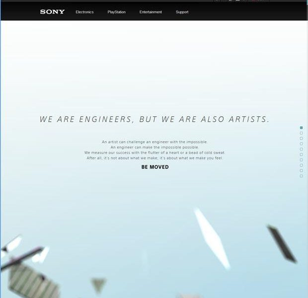 50 Mind blowing examples of parallax website designs