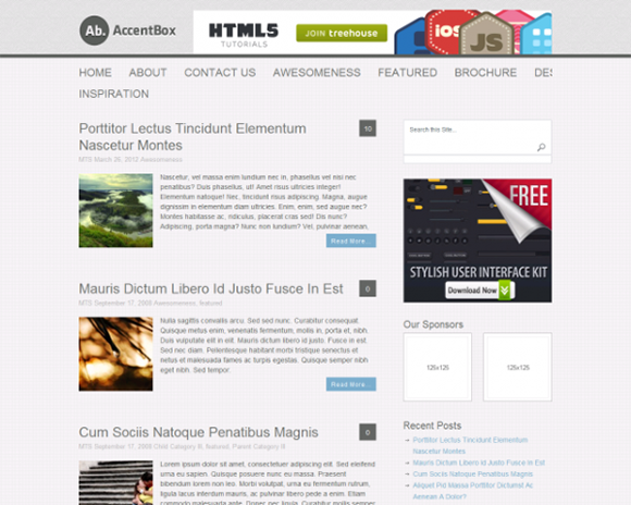 100 Free HTML Website Templates To Use In 2014