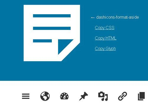 Official Icon Font of the WordPress Admin