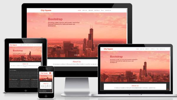 City Square Bootstrap Responsive web template