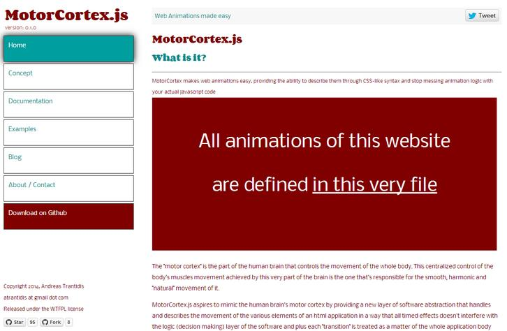 MotorCortex makes web animations easy