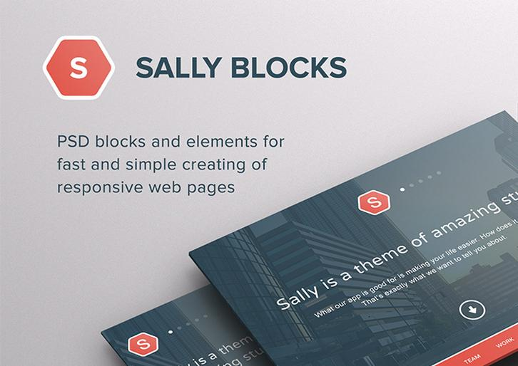 200+ PSD Blocks and Elements for Responsive Sites