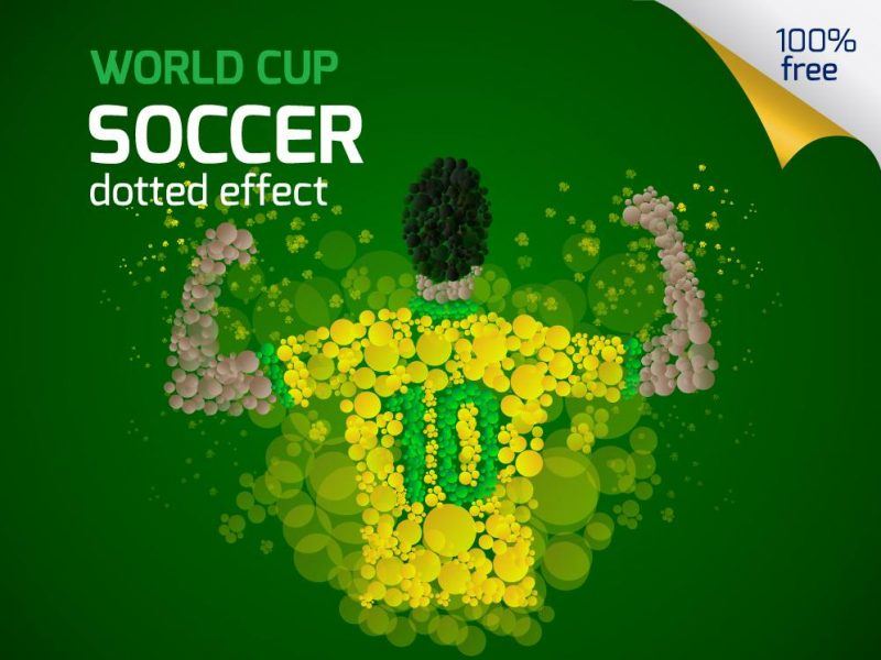 Dotted World Cup Soccer Template Pack (AI & EPS)
