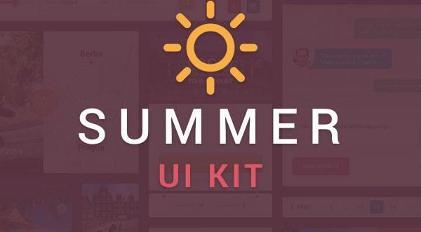 Free Download: Summer UI Kit (PSD)
