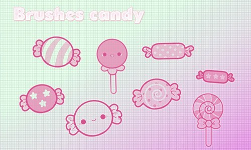 Yummy And Free Sweets Photoshop Brushes