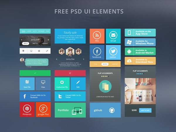 Free Modern UI Kit PSD Download