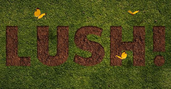 Grass and Dirt Text Effect