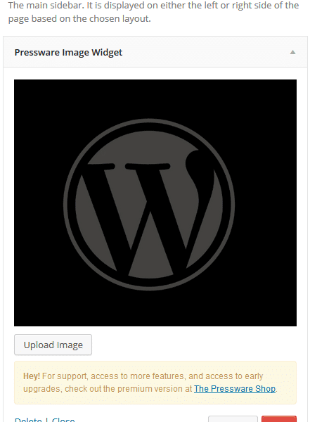 New WordPress Plugin By Pressware Provides An Easy Way To Insert Images Into A Widget