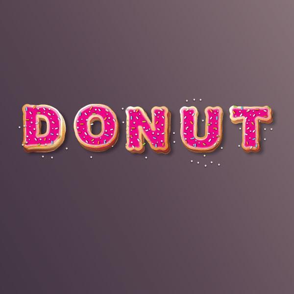 Create Yummy Donut Text Effect in Adobe Illustrator