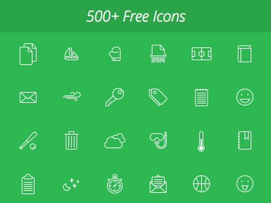 Over 500 free icons (SVG,EPS,PDF,PNG)