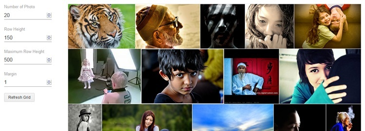 jQuery Plugin to create Justified Image Gallery