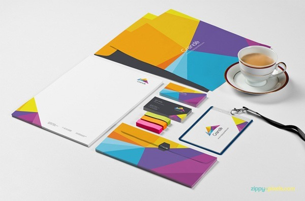8 free photorealistic stationery branding psd mockups -, Powerpoint templates