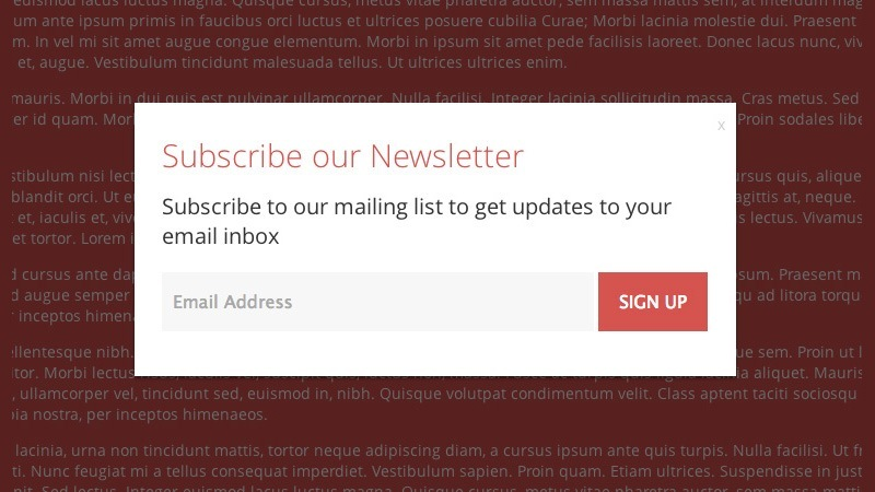 Create Customizable Subscription Modal/Newsletter