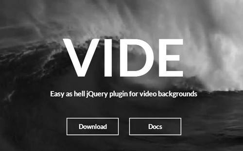 jQuery plugin for video backgrounds – Vide