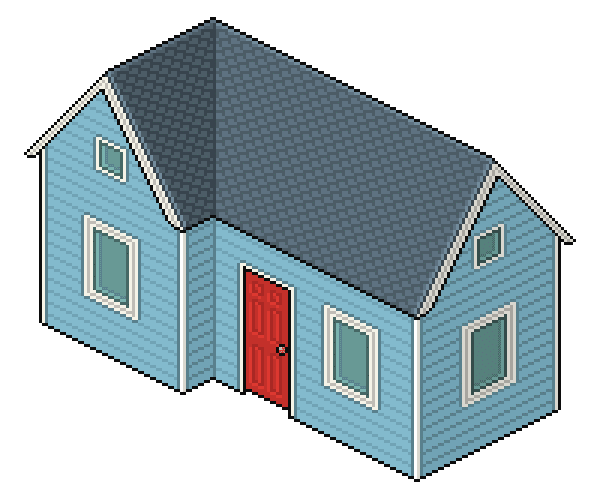 Create an Isometric Pixel Art House in Adobe Photoshop